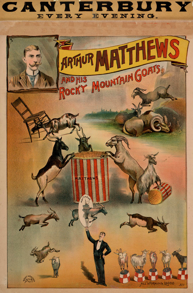 Detail of Arthur Matthews and his Rocky Mountain Goats by Anonymous