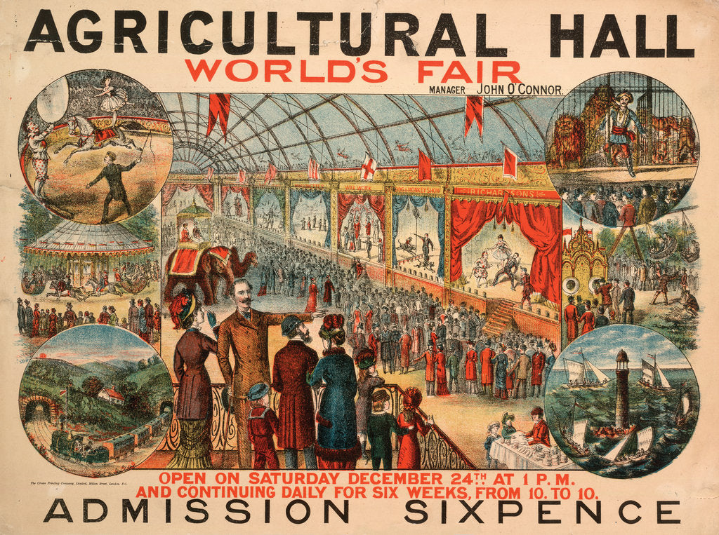 Detail of World's Fair,  Royal Agricultural Hall by Anonymous