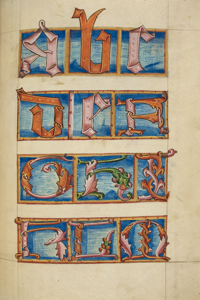 Detail of Medieval alphabet from the Macclesfield Alphabet Book by Anonymous