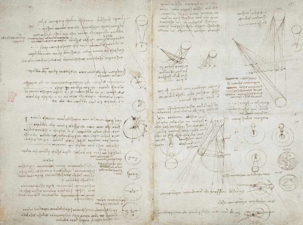 Detail of Notebook of Leonardo da Vinci by Leonardo da Vinci