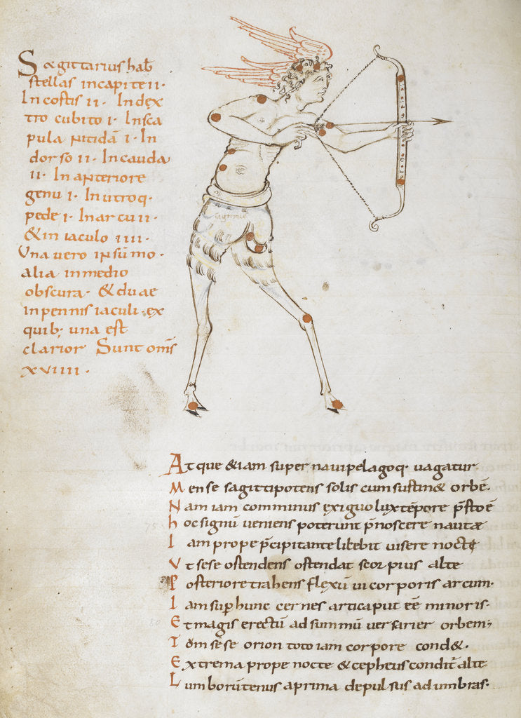 Detail of Sagittarius, from Cicero's poetic treatise on the constellations by Anonymous