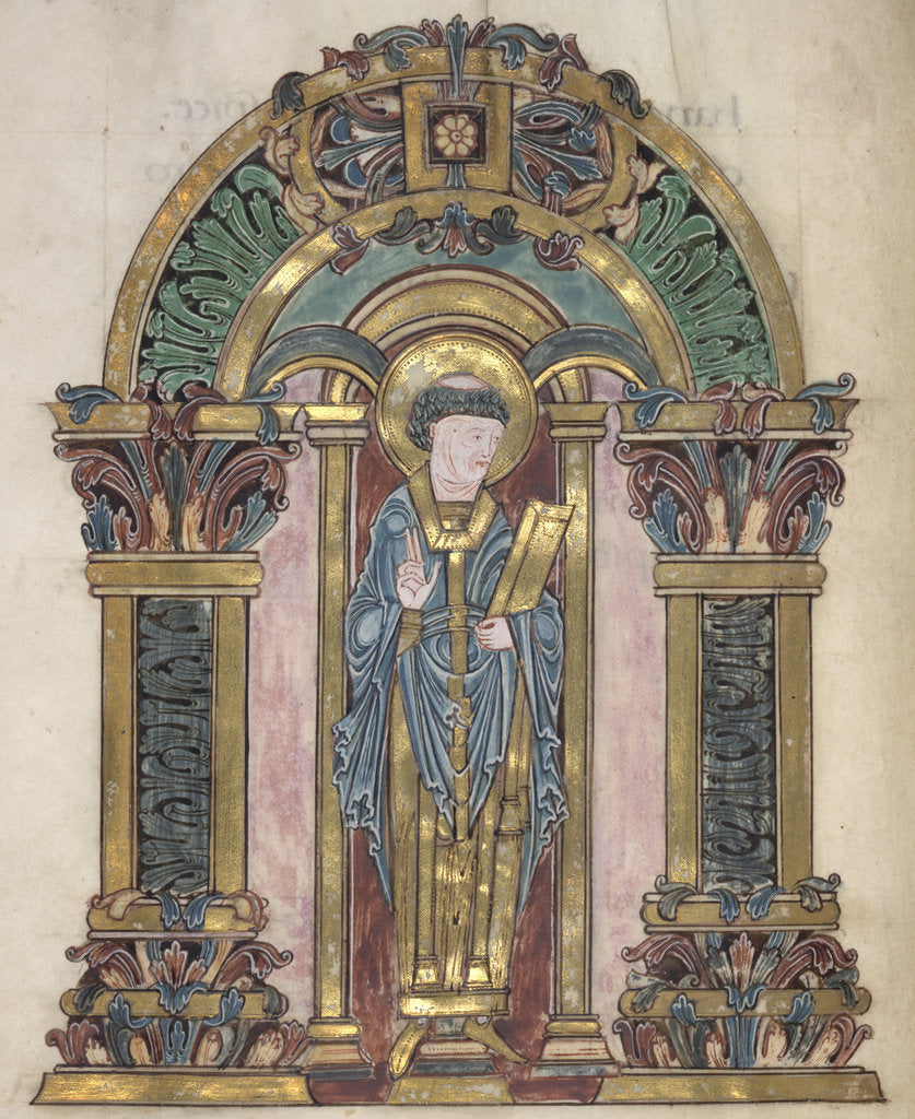 Detail of St Swithun, from the Benedictional of Æthelwold by Anonymous