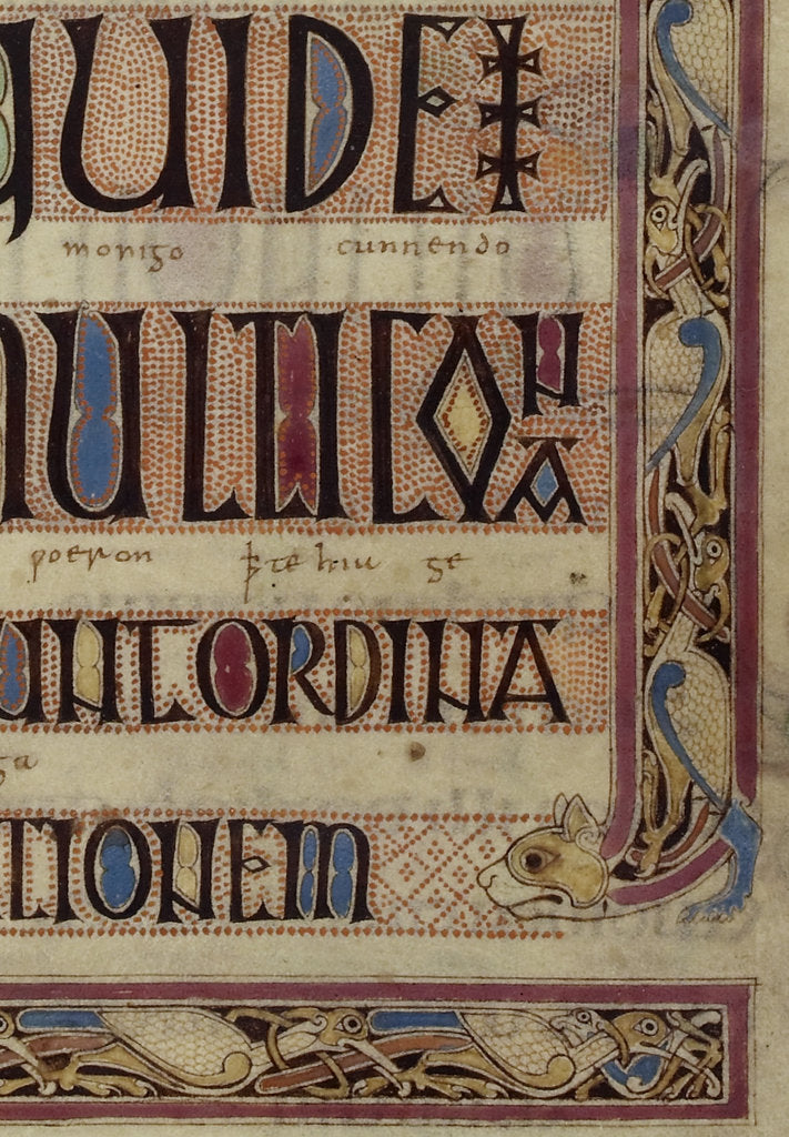 Detail of Detail of a cat, from a page of the Lindisfarne Gospels by Eadfrith
