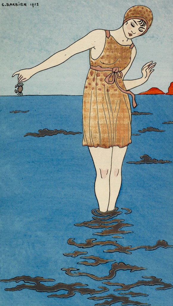 Detail of Costume de bain by George Barbier