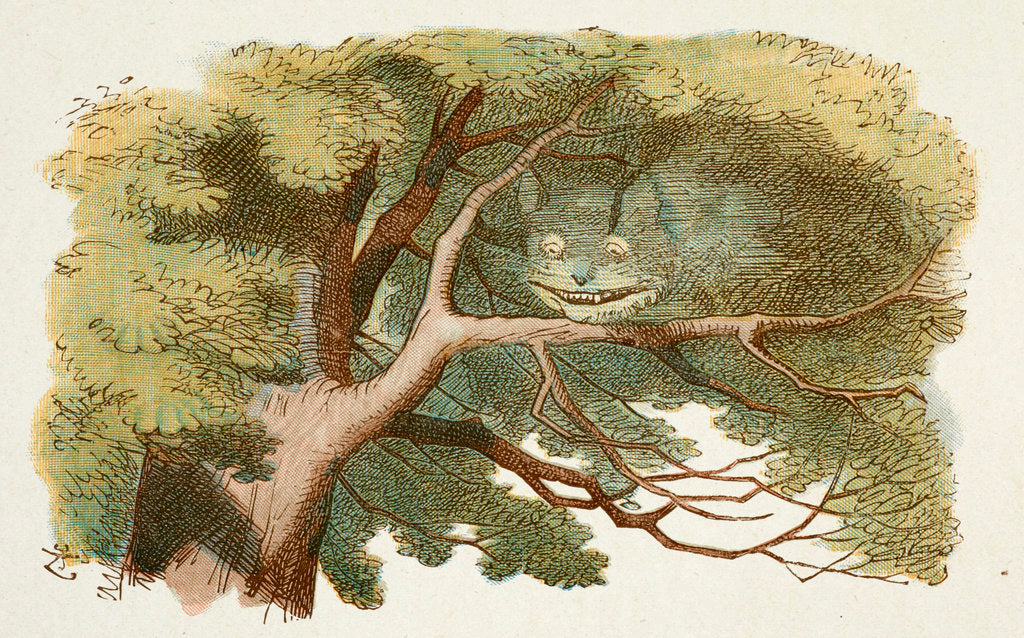 Detail of Cheshire Cat by Sir John Tenniel