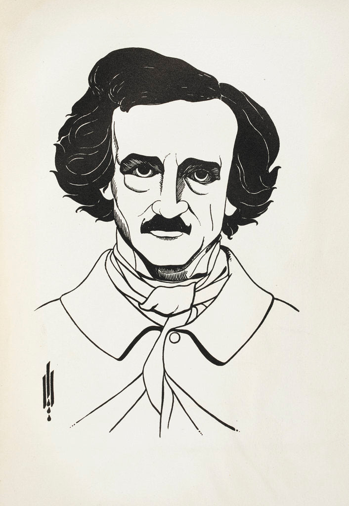Detail of A Portrait of Edgar Allan Poe by Aubrey Beardsley