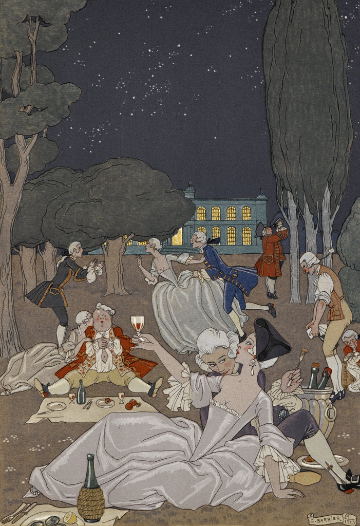 Detail of Evening romance by George Barbier