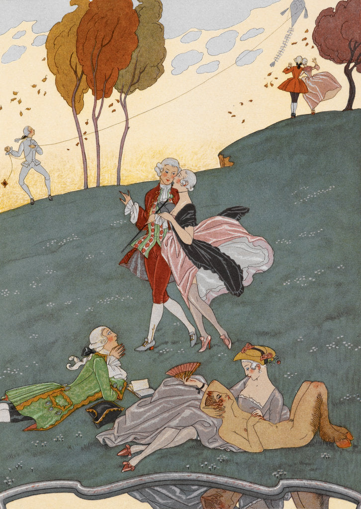 Detail of Young love by George Barbier