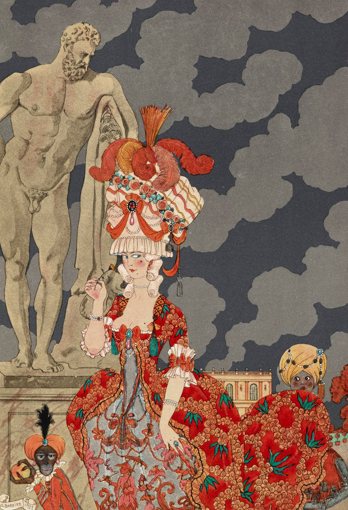 Detail of Cortège by George Barbier