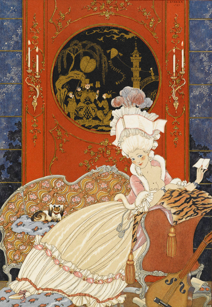 Detail of Lettre by George Barbier