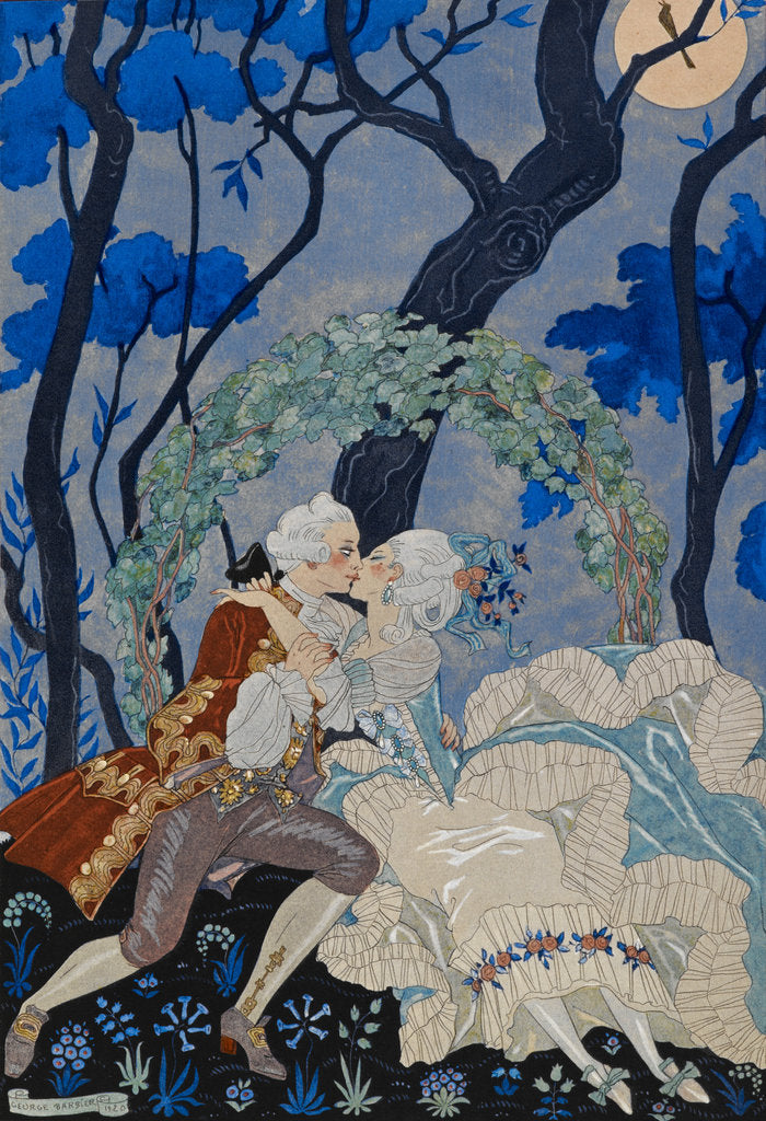 Detail of The look of love by George Barbier