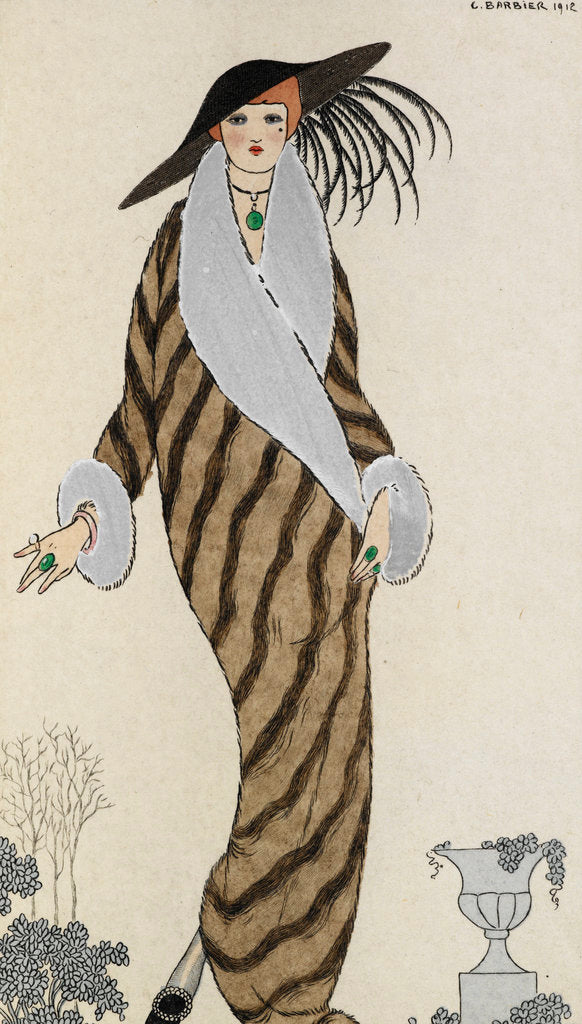Detail of Manteau de Liberline by George Barbier