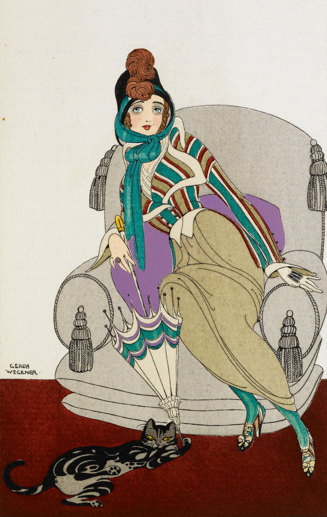 Detail of Parissienne fashion plate by Gerde Wegener