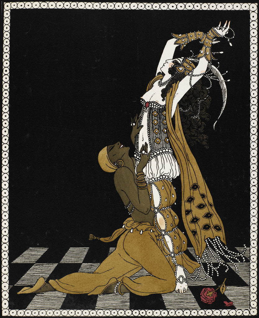 Detail of Nijinsky as the Golden Slave in Scheherazade by George Barbier