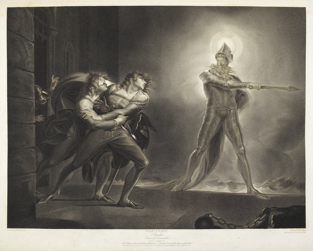 Detail of Hamlet and the Ghost by R. Thew