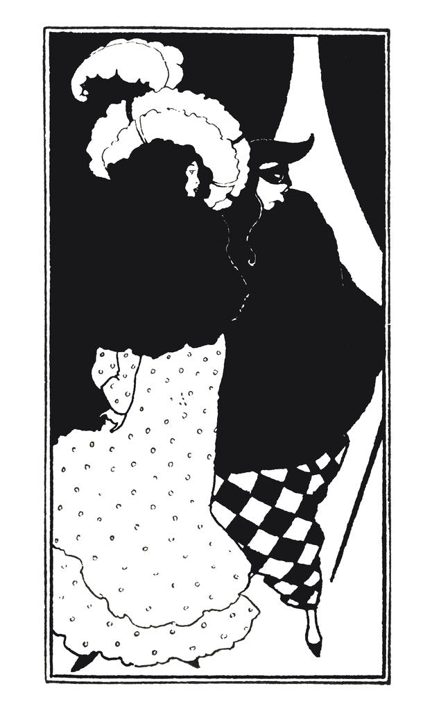 Detail of Masked man by Aubrey Beardsley