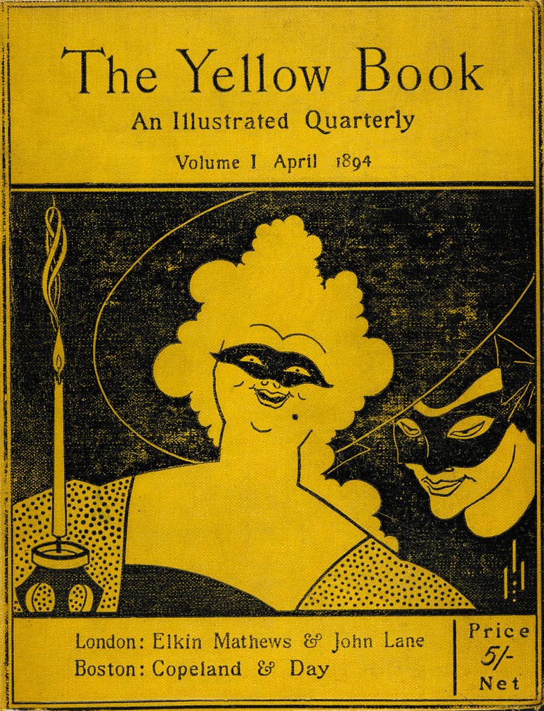 Detail of The Yellow Book cover by Aubrey Beardsley