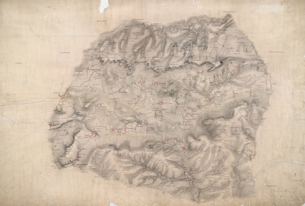 Detail of Map of Wilcot by Anonymous