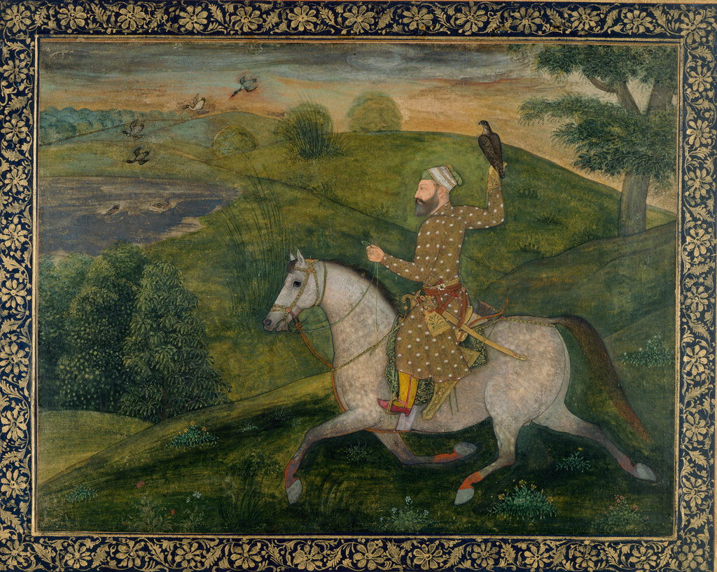 Detail of Allahvardi Khan out hawking, c.1660 by Anonymous
