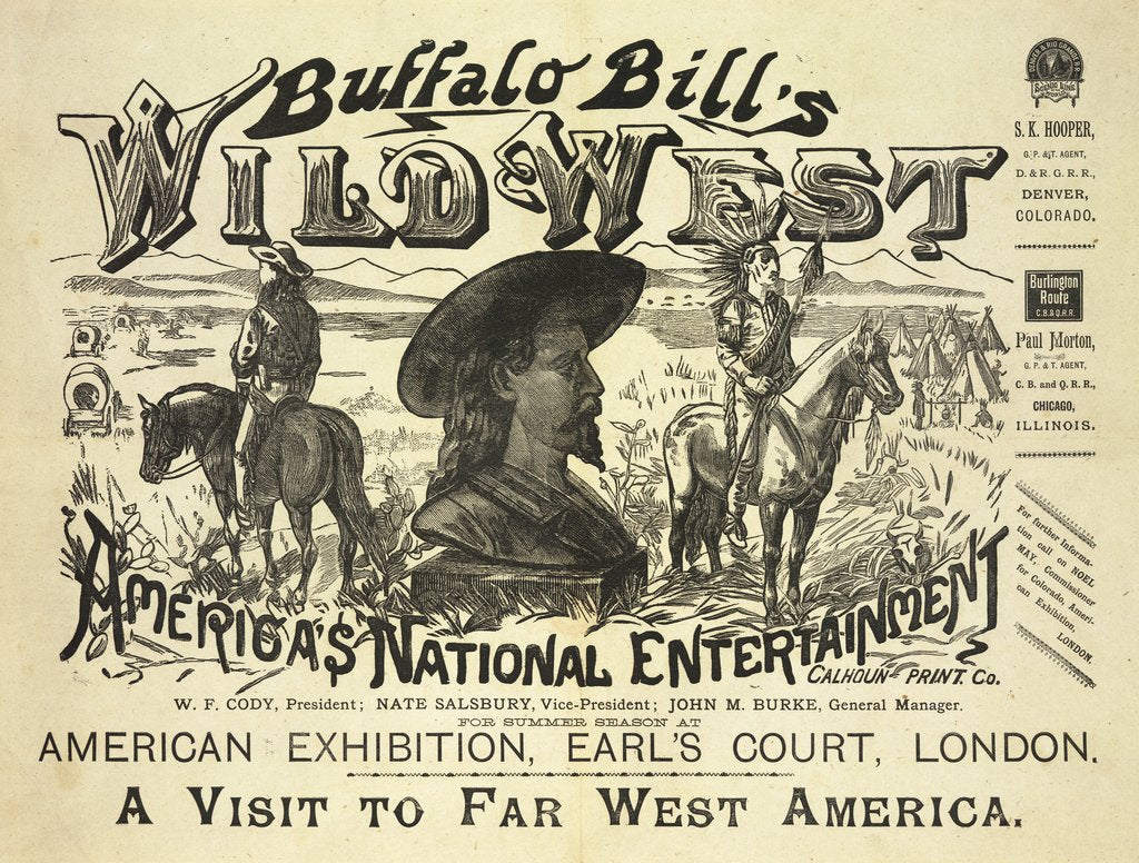 Detail of Buffalo Bill's Wild West, A Visit to Far West America by Calhoun Print Co
