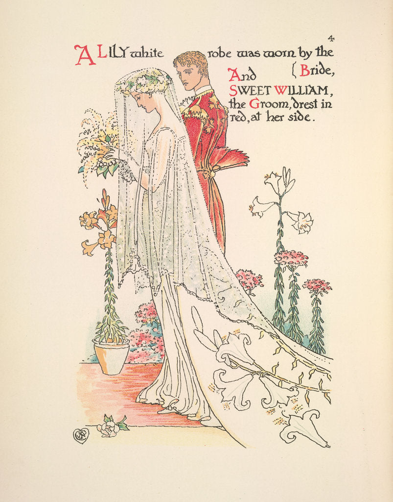 Detail of A Flower Wedding by Walter Crane