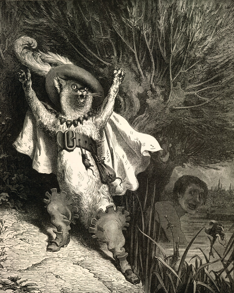 Detail of Puss in Boots by Gustave Dore