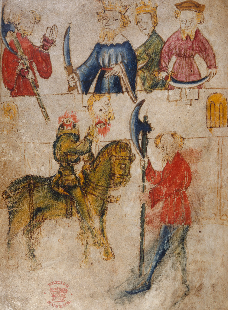 Detail of Gawain and the Green Knight by Anonymous