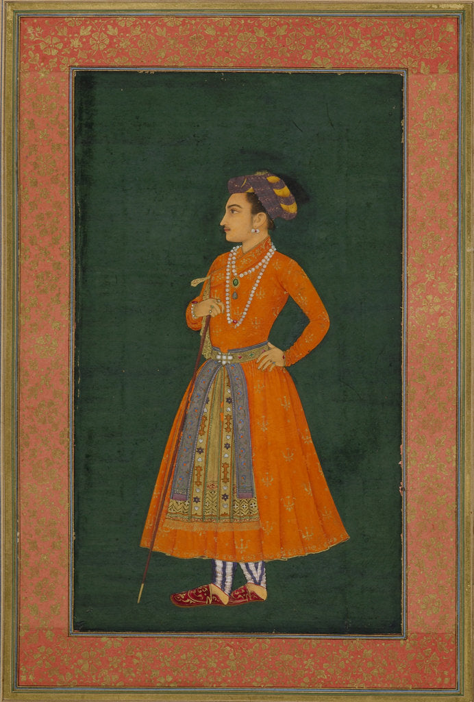 Detail of Portrait of Prince Dara Shikoh by Murar