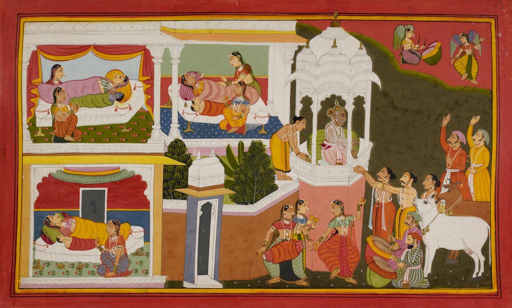 Detail of The birth of Rama by Manohar