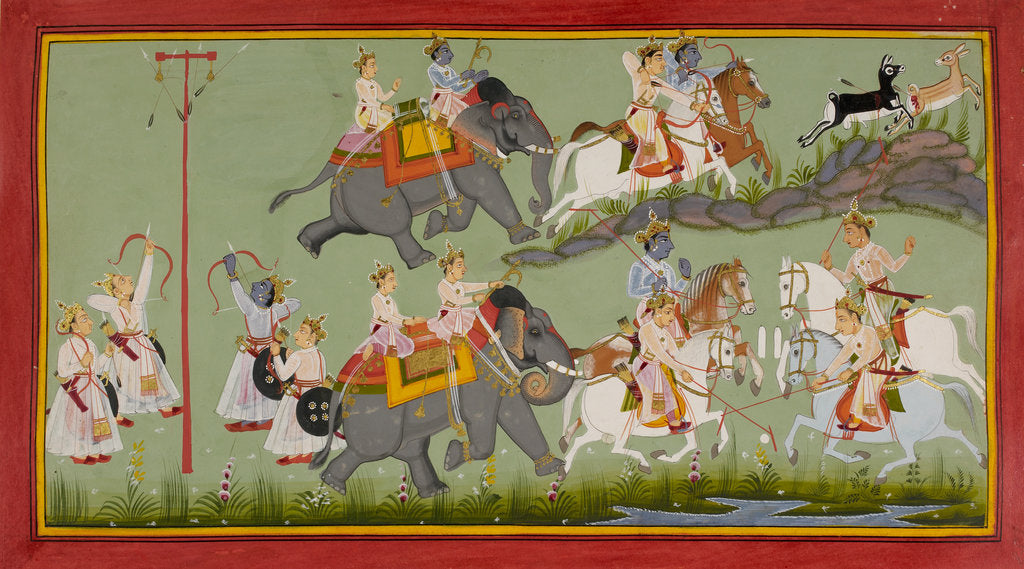 Detail of Rama and his brothers grow up by Manohar