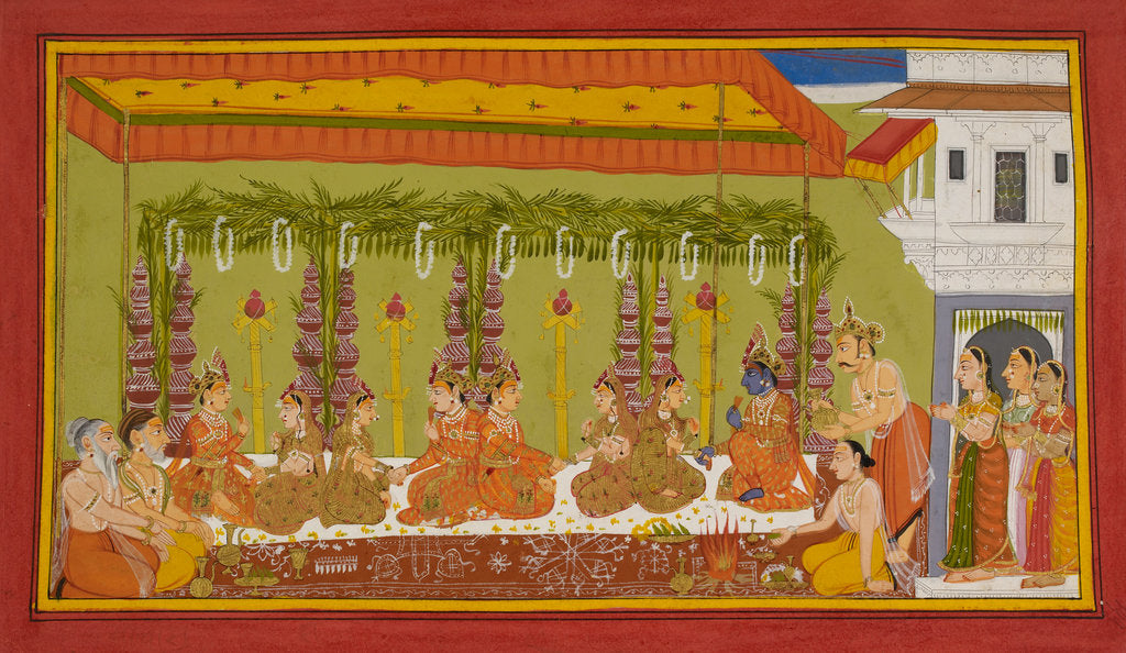 Detail of Rama and Sita's marriage by Anonymous