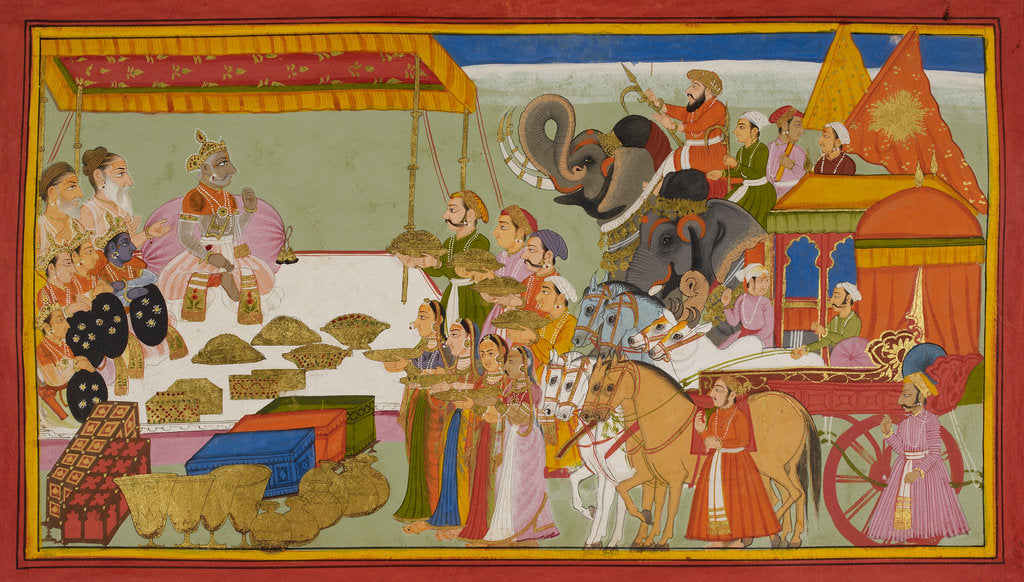 Detail of Sita's wedding dowry by Anonymous