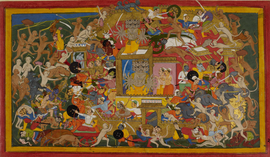 Detail of Rama attacks Lanka by Anonymous