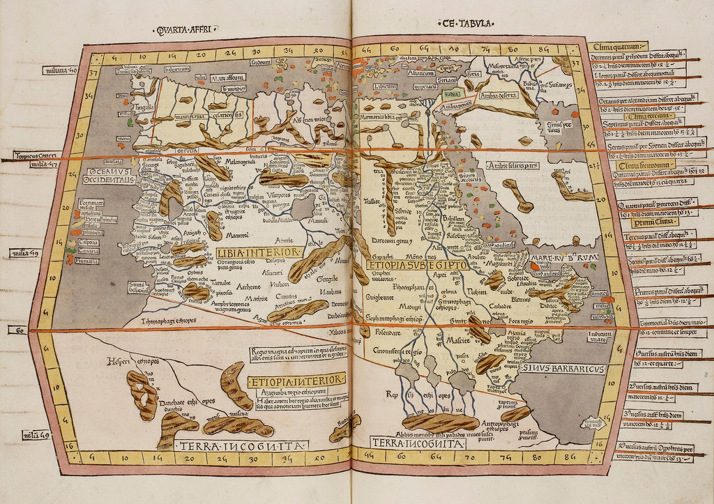 A historic map of Northern Africa, Ethiopia and Egypt posters ...