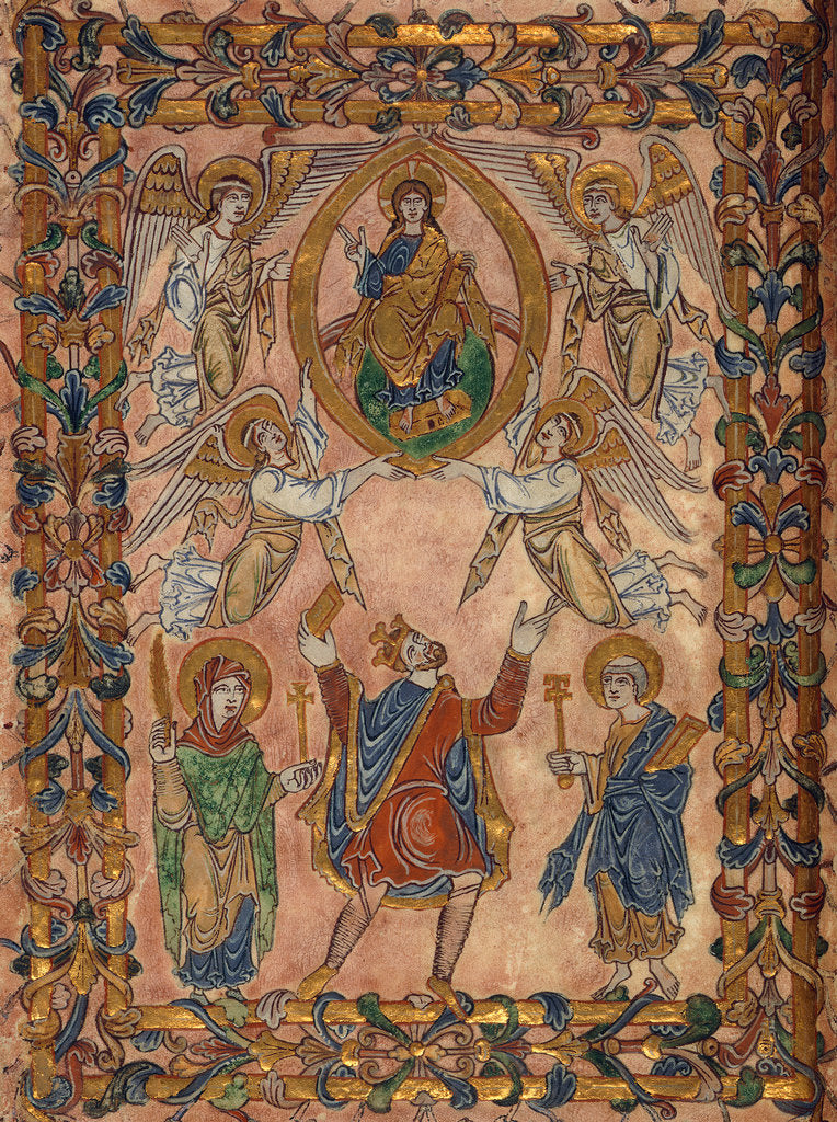 Detail of King Edgar and Christ in Majesty by Anonymous