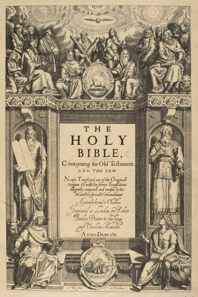 Detail of Title page of the King James Bible by C Boel