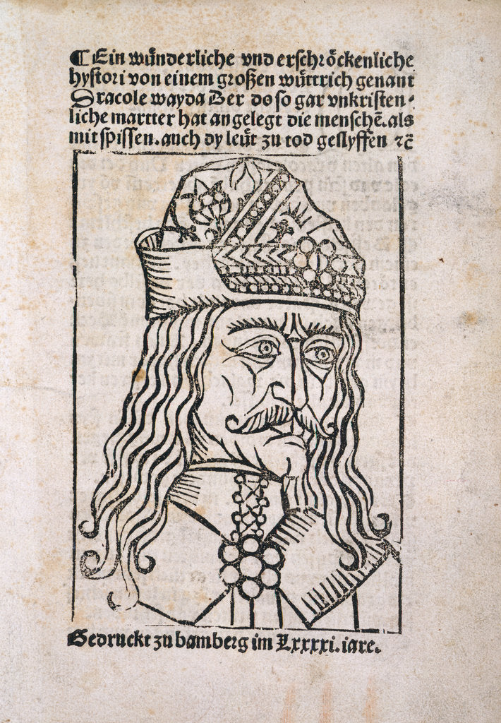 Detail of Vlad the Impaler woodcut by Anonymous