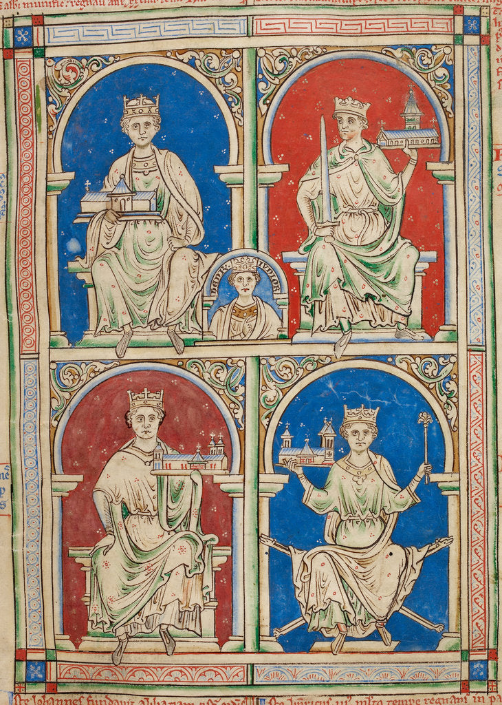 Detail of English Kings from Henry II to Henry III by Anonymous