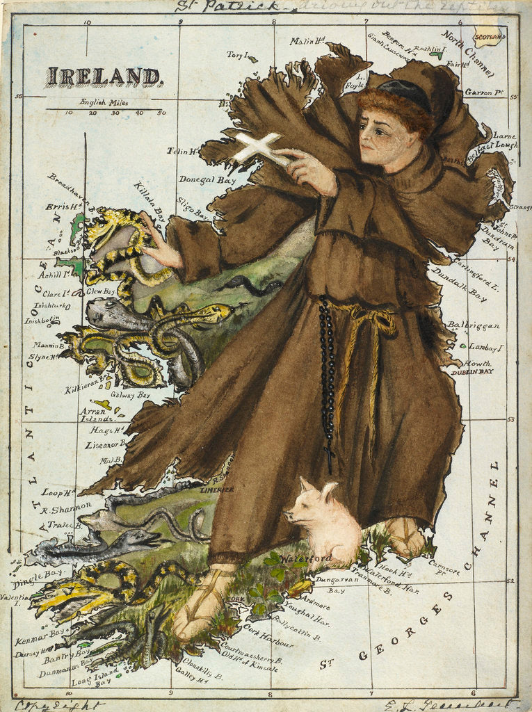 Detail of Cartoon map of Ireland by Lillian Lancaster