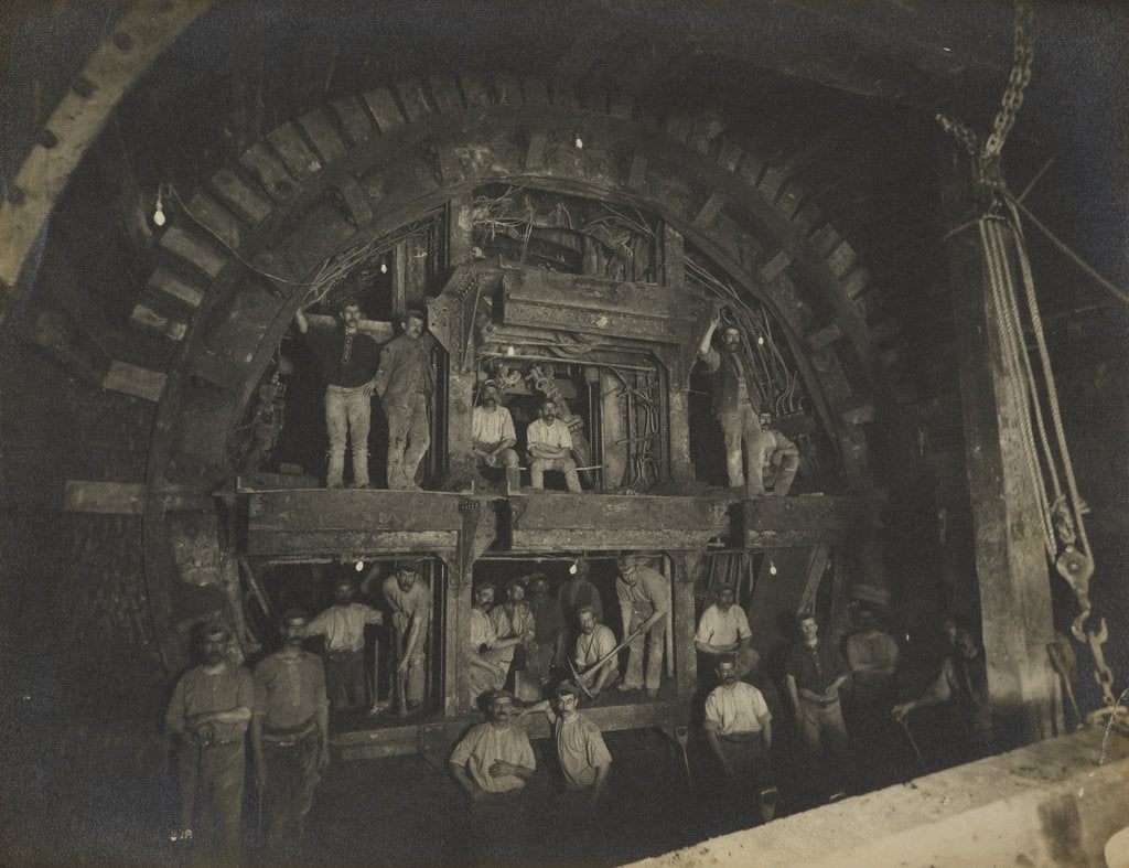Detail of Construction of the London Underground, 1898 by unknown