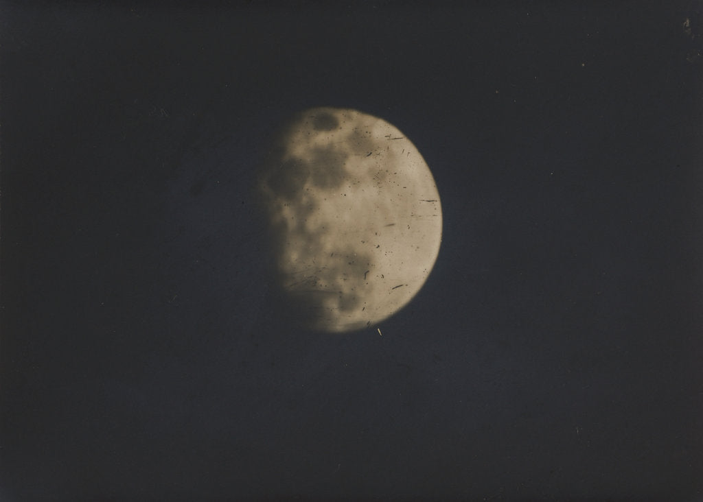 Detail of Photograph of the moon by Nevil Story-Maskelyne