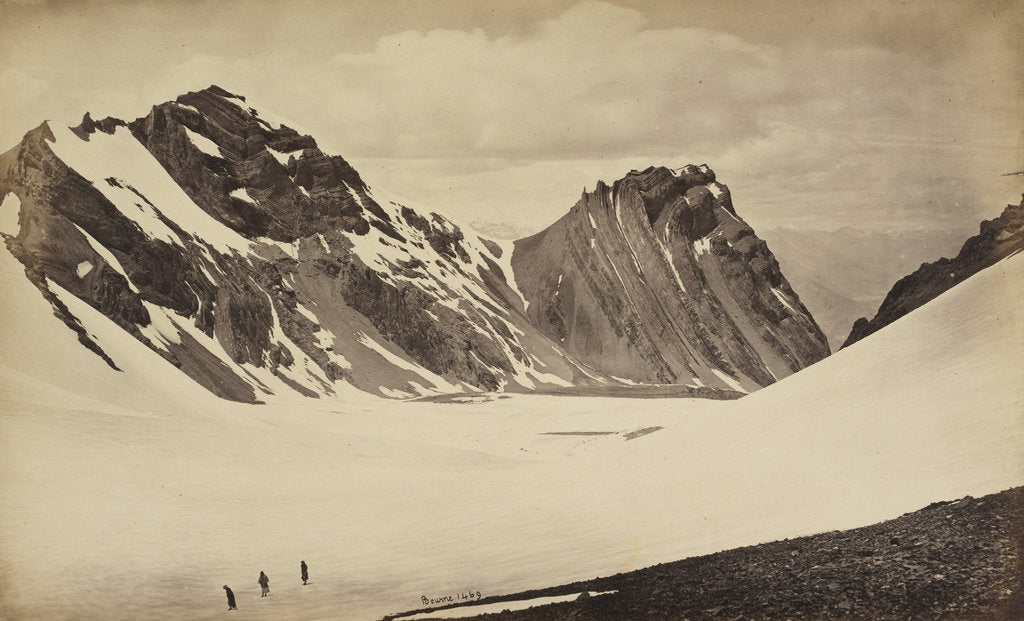 Detail of View from the top of the Manirung Pass by Samuel Bourne