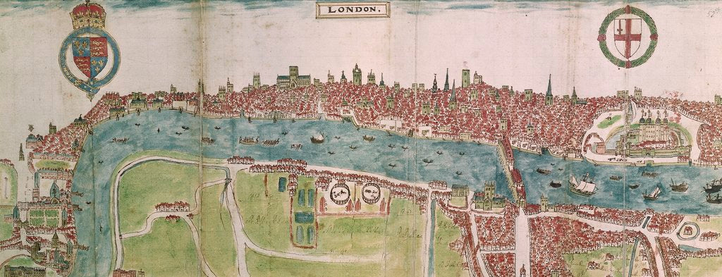 Detail of Panorama of London by William Smith