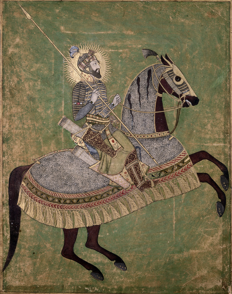 Detail of Emperor Aurangzeb on horseback by Anonymous