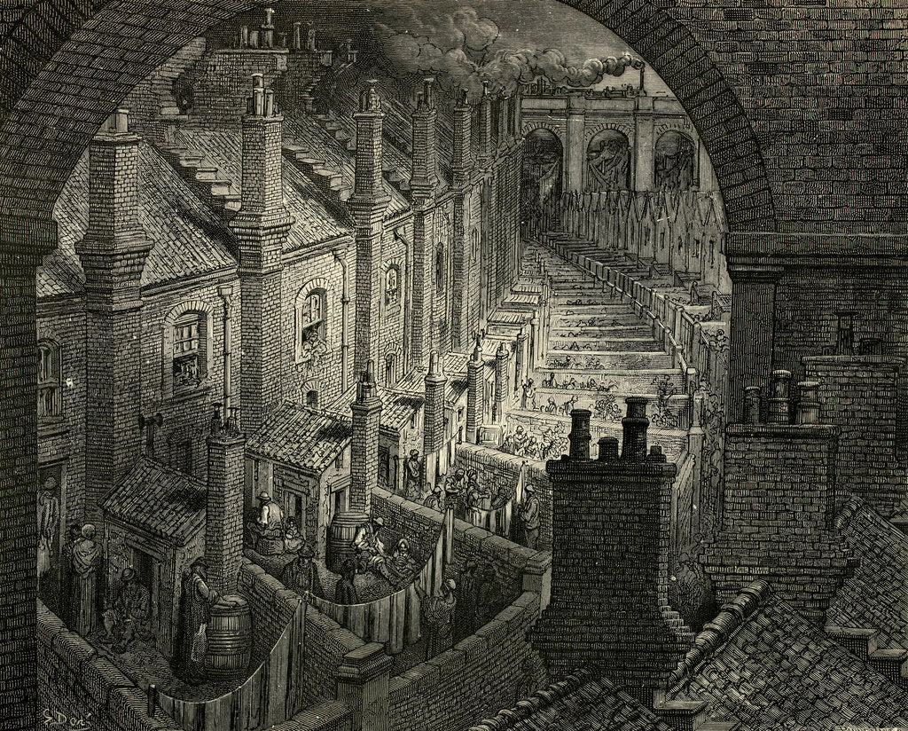 Detail of London: A Pilgrimage by Gustave Dore