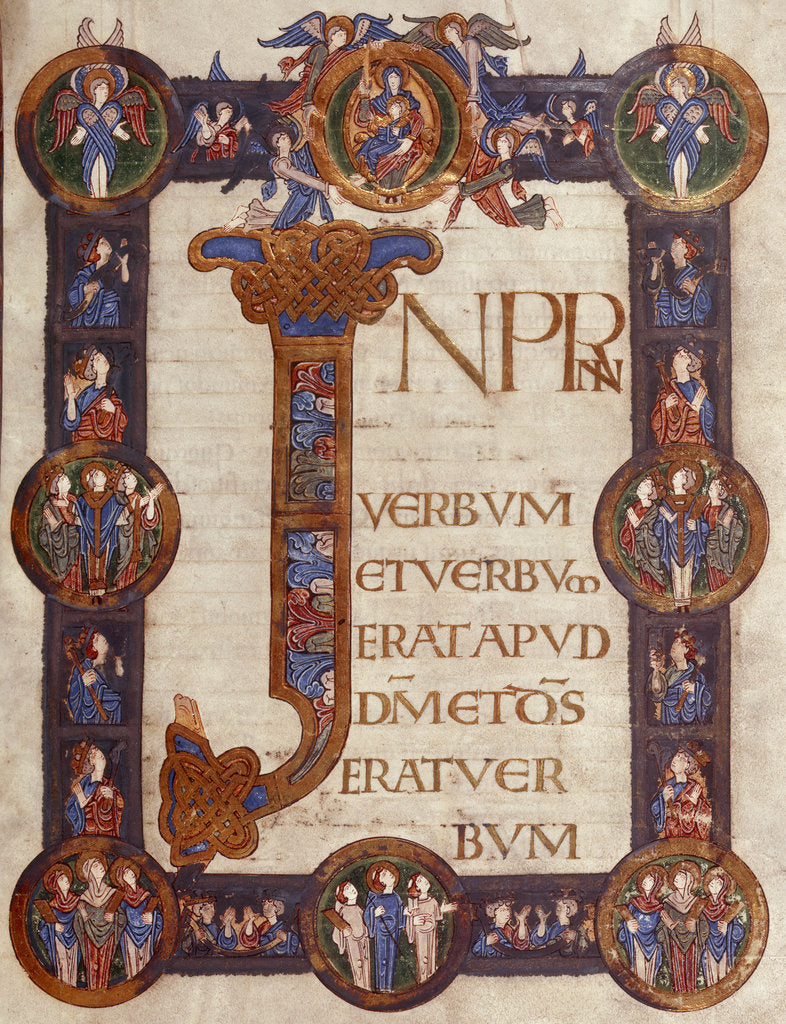 Detail of Incipit page of St John's Gospel (Grimbald Gospels) by Anonymous