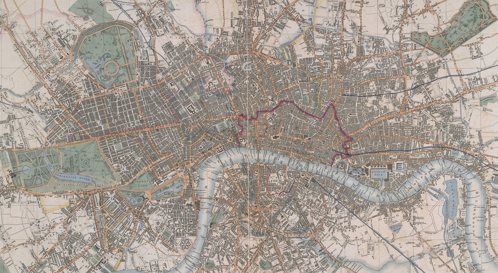 Detail of Cross's Map of London by Cross