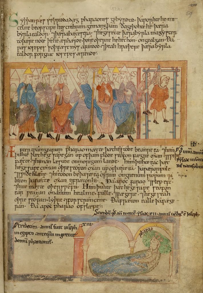Detail of Anglo-Saxon justice in the Old English Hexateuch by Anonymous