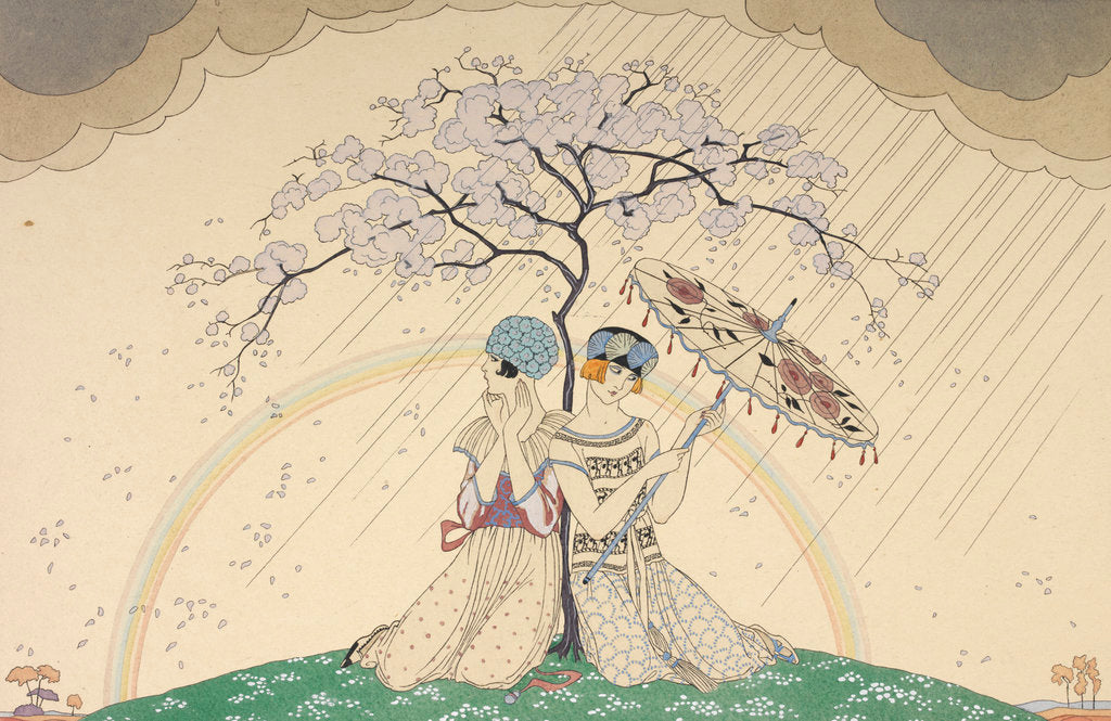 Detail of L'arc-en-ciel by George Barbier