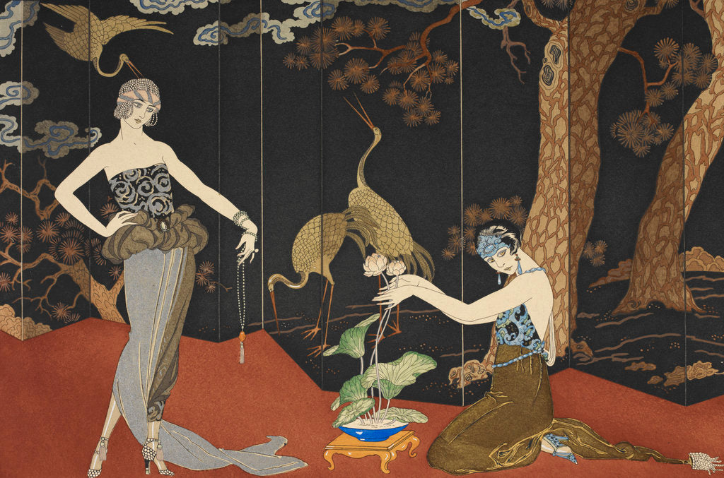 Detail of Le gout des laques by George Barbier